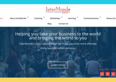 InterMondo Cultural Consulting – Brand Identity & Website