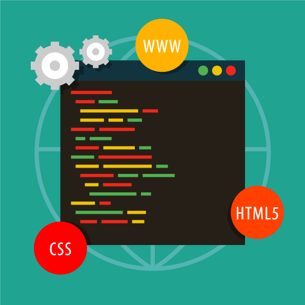 Vector illustration of website code
