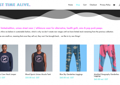 First Time Alive – Online Store and Brand Identity